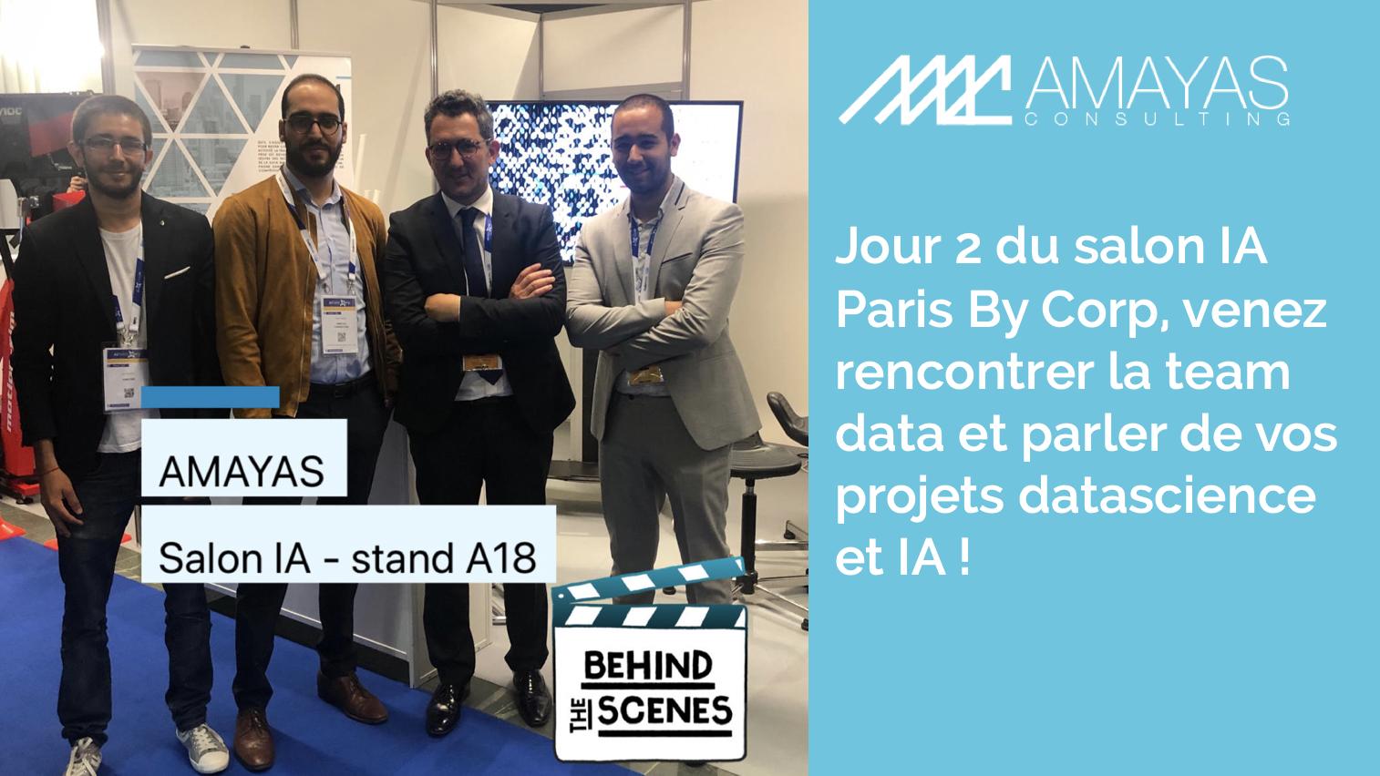 Jour 2 du salon IA Paris By Corp, venez rencontrer la team data et parler de vos projets datascience et IA !