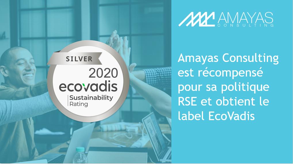 Amayas Consulting est récompensé pour sa politique RSE et obtient le label EcoVadis